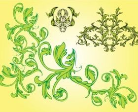Free Nature Ornaments design vectors
