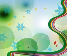 Rainbow Nature Background vector