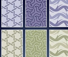 Seamless Textile Vector Patterns set