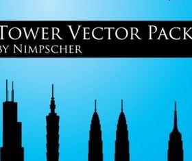 Skyscraper Vector Silhouette Pack