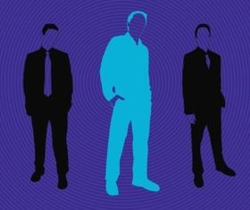 Business Men Silhouettes vectors