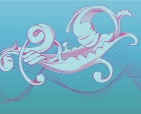 Organic Scroll Ribbons vector