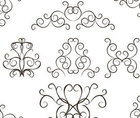 Ornate Swirl Elements 4 vector