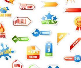 Sale Design Elements free vector