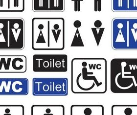 WC Signs graphic vector