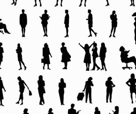 Women Silhouettes art design vectors