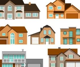 Houses graphic vector design