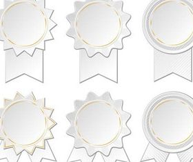White Paper Tags art set vector