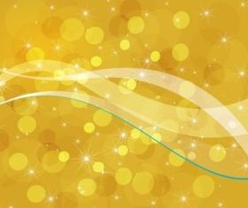Golden Bubbles Background vector