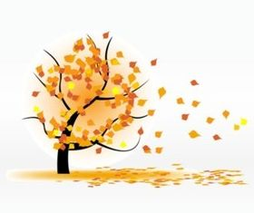 Autumn Leaves Blowing background vector graphic