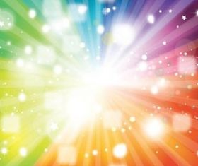 Rainbow Colors Starburst background design vectors