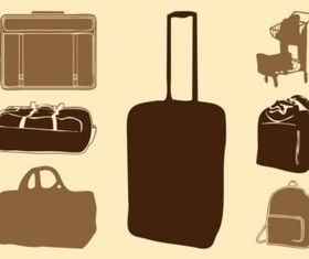 Luggage Bags Silhouettes vector