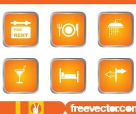 Tavel And Accommodation Icons vectors graphic