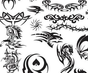 Various Stylish Tatoo 10 Illustration vector