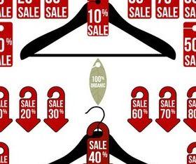 Hangers with Stickers art vectors