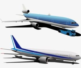 Airplanes vector graphics