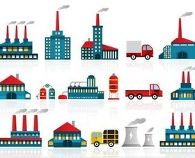 Power Plants Icon sart vector graphics