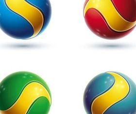 3D Spheres Logotypes art vector set
