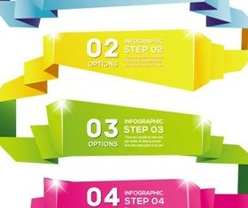 Origami Option Banners art vector