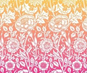 Antique Flowers Background vector graphics