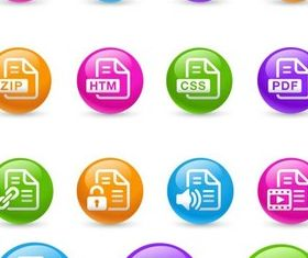 Color Round Icons art vector