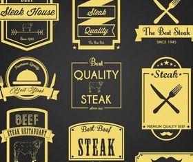 Restaurant Labels free vector design