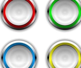 Round Buttons graphic vectors material