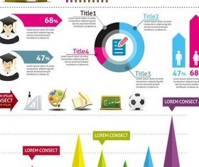 School Infographics Elements art vectors