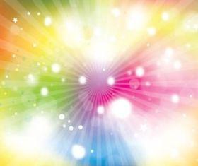 Colorful Sunburst Explosion vector