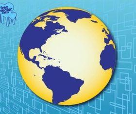Americas Globe design vector