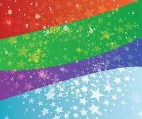Stars Circles background vector set