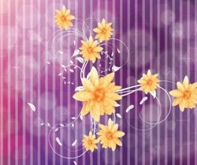 Cool Flowers background vectors material
