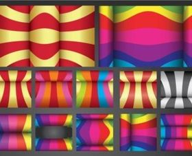Colorful Curves design vector