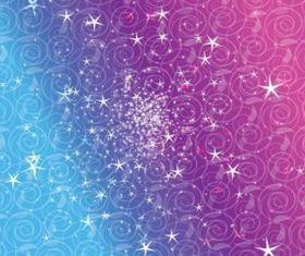 Star Scrolls background vector