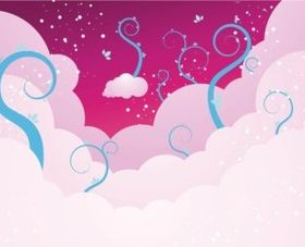 Pink Sky background design vectors