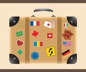 Travel Suitcase vectors material