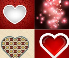 Hearts Backgrounds vector material