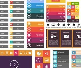 Flat Design Elements 9 vector