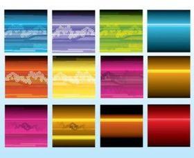 Flyer Backgrounds vector set