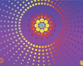 Dots Background set vector