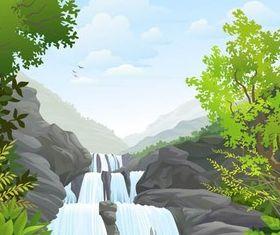 Natural Backgrounds 12 vectors graphics