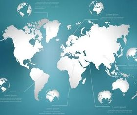 Globes Backgrounds Set 4 vector graphics
