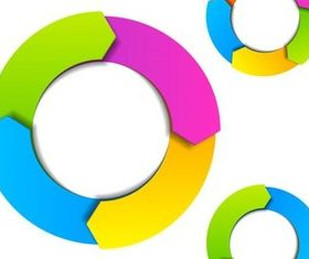 Round Shiny Diagrams vectors graphics