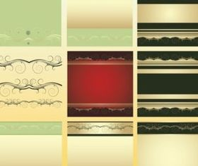 Scroll Frames background vector set