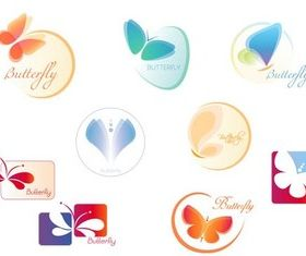 Butterfly Logotypes set vector