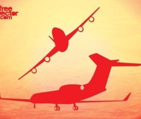 Airplane Flights vector