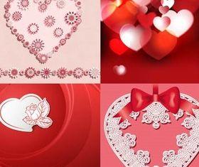Hearts Backgrounds Set 5 vector