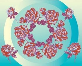 Flower Circles background vector