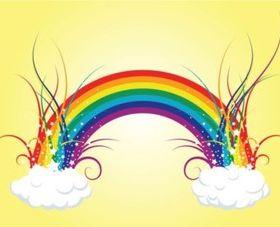 Rainbow Clouds design vector