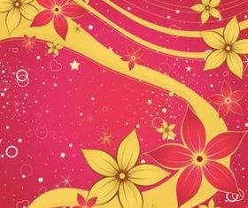 Gold Flowers vector